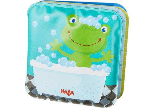 Haba Haba Mini Bath Time Book Frog with Rattle