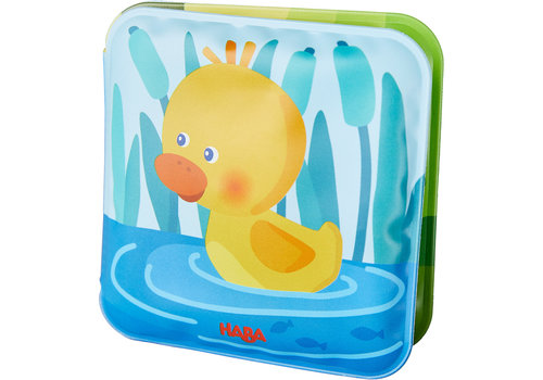 Haba Haba Mini Bath Time Book Duck with Squeaker