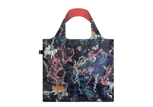 Loqi Loqi Foldable Carrying Bag Kristjana S Williams World Map
