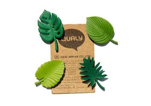 Qualy Qualy Tropical Magnet Green set of 4