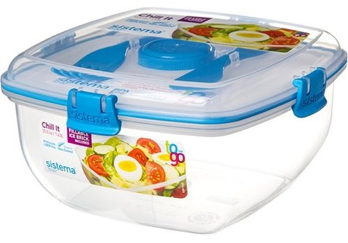 Sistema Sistema To Go Lunchbox Chill It Met Koelelement 1,63 L Blauw