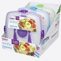 Sistema To Go Lunch Box Chill It Met Koelelement 1,63 L Purple