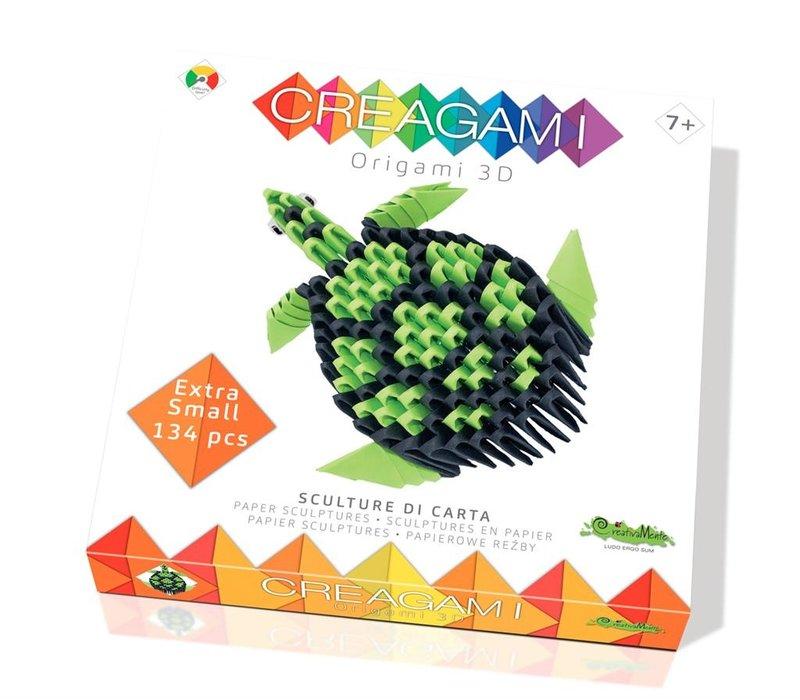 Creagami  Schildpad 3D Origami Extra Small 134 st