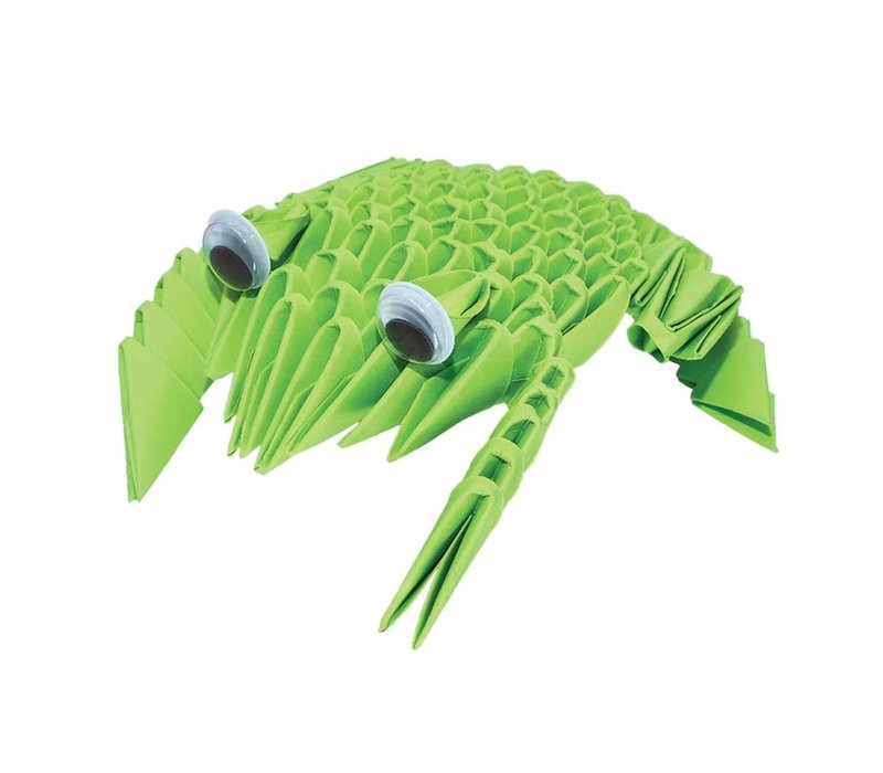 Creagami Set of 4 3D Origami's Small Butterfly, Lady Bug, Frog and Fish