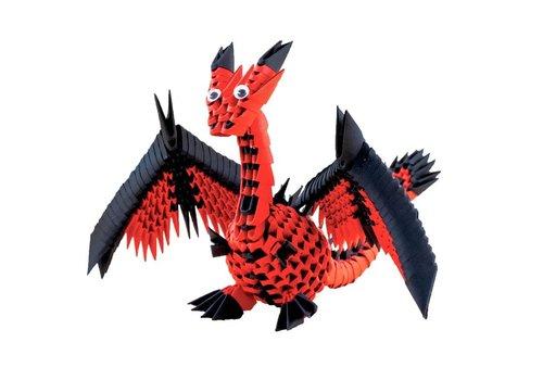 Creagami Creagami  Draak 3D Origami Medium 463 st