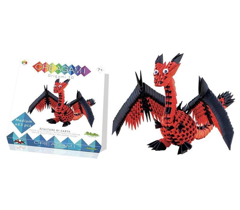 Creagami  Draak 3D Origami Medium 463 st