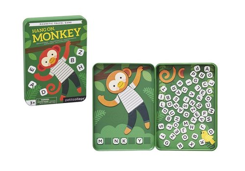 Petit Collage Petit Collage Magnetisch Spel Hang on Monkey Galgje