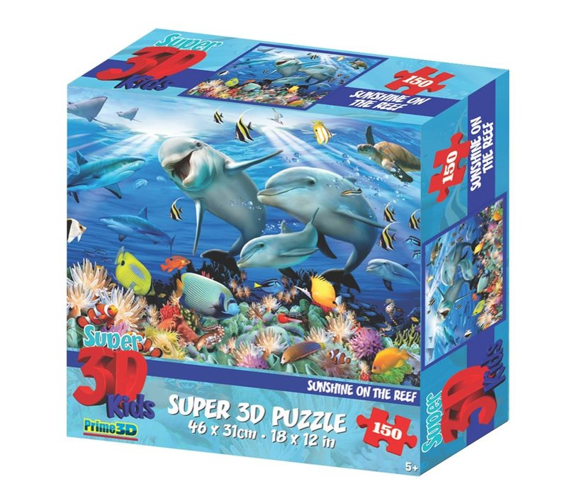 Prime 3D Puzzel Zonneschijn op het Rif 150 st