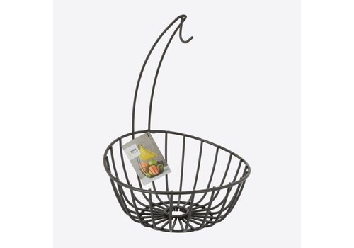 Point-Virgule Point-Virgule Wire Banana Holder and Fruit Basket Black