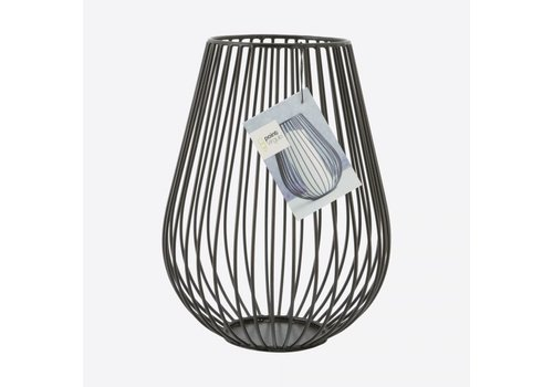 Point-Virgule Point-Virgule Wire Candle Holder Black 17 cm