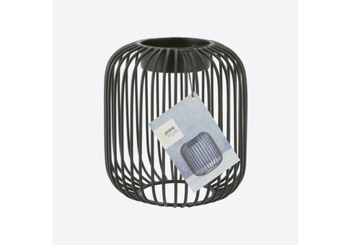 Point-Virgule Point-Virgule Wire Tea Light Holder Black 13 cm