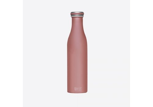 Lurch Lurch Double Insulated Bottle Stainless Steel Rose Gold 750 ml