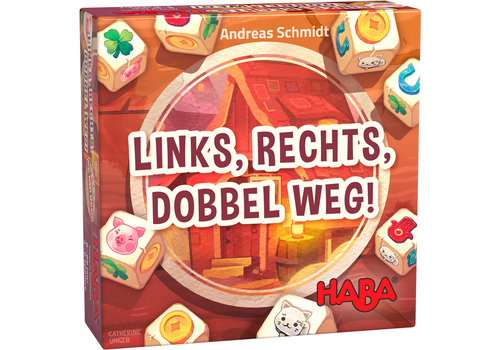 Haba Haba Spel Links, Rechts, Dobbel Weg!