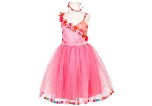 Souza! Souza! Alicia Dress Rose with Pompons 8-10 Yrs