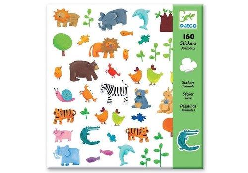 Djeco Djeco Stickers Animals 160 pcs