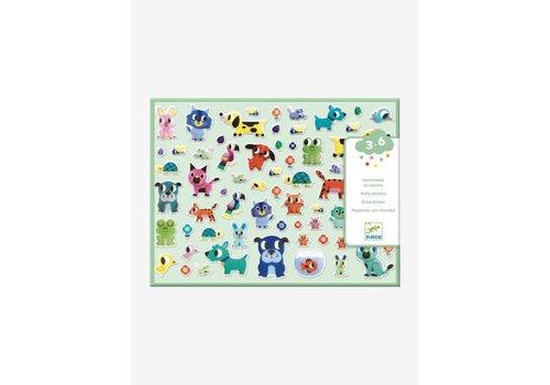 Djeco Djeco  Puffy Stickers Mijn Kleine Vriendjes 100+