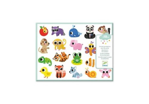 Djeco Djeco Big Stickers for Toddlers Baby Animals 100+