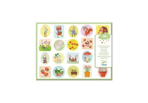 Djeco Djeco  Grote Stickers voor Kleintjes De Tuin 100+