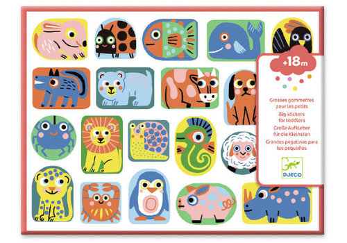 Djeco Djeco Big Stickers for Toddlers All Shapes and Sizes 100+