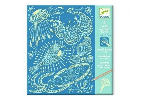 Djeco Djeco Scratch Cards Sea Life