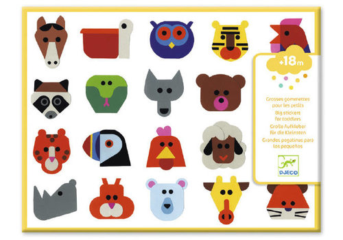 Djeco Djeco Big Stickers for Toddlers Head to Head