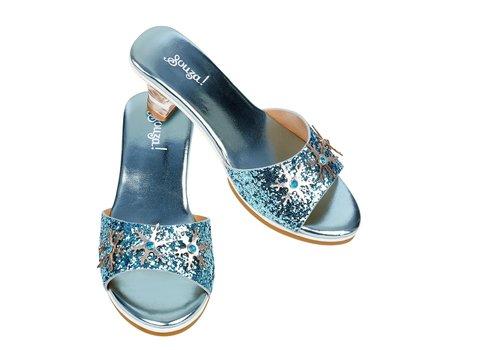 Souza! Souza! Slipper High Heel Ice Queen L. Blue Metallic Size 27-28