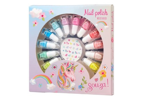 Souza! Souza! Set Nail Polish + Nail Stickers