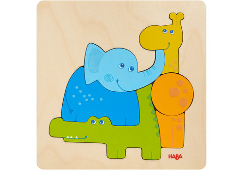 Haba Haba Wooden Puzzle Zoo Animals