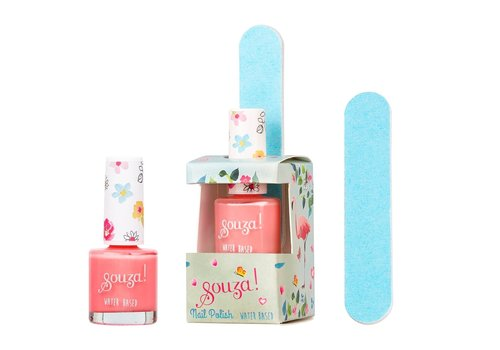Souza! Souza! Set Nail Polish + Nail File Flamingo