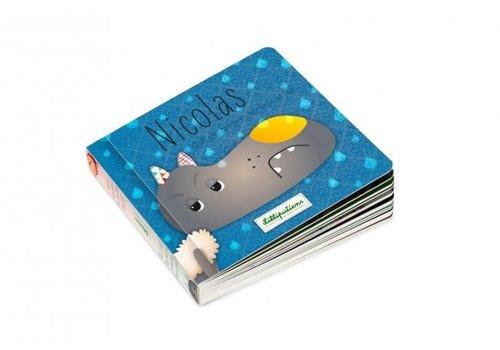 Lilliputiens Lilliputiens Omkeerbaar Boek  Nicolas Stapt met het Verkeerde Been uit Bed