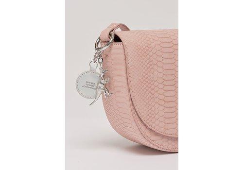 Estella Bartlett Estella Bartlett The Loman Saddle Bag Pink Snake