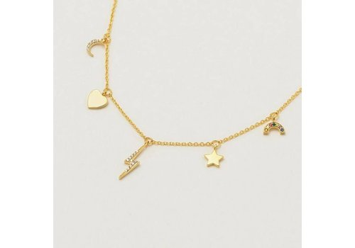 Estella Bartlett Estella Bartlett Multi-Charm CZ Necklace