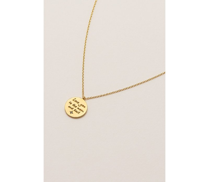 Estella Bartlett Love You To The Moon And Back Necklace