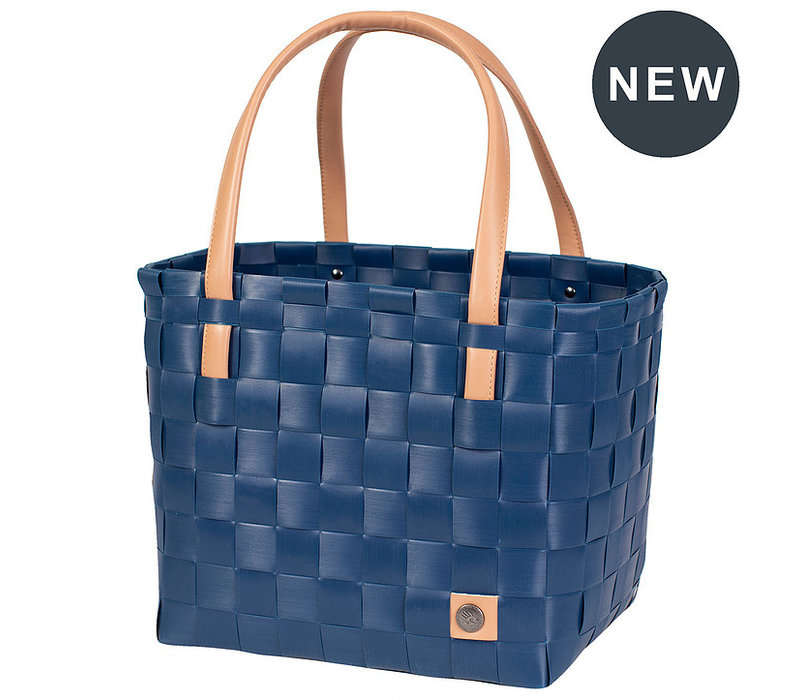 Handed By Color Block Shopper Ocean Blue size S