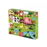Janod Giant Tactile Puzzle Farm Animals 20 pcs
