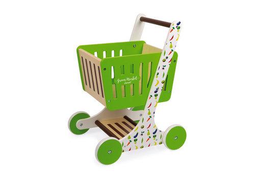 Janod Janod Green Market Shopping Trolley in Wood