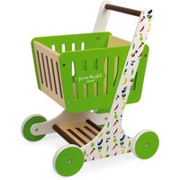 Janod Green Market Shopping Trolley in Wood