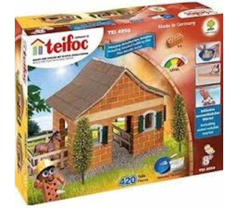 Teifoc Horse Stable Construction Set
