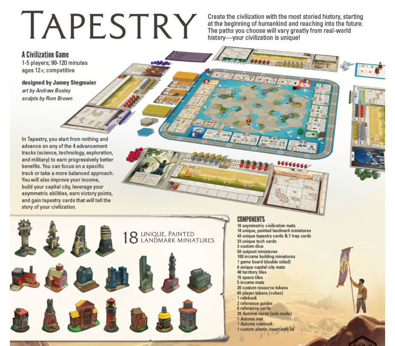 999 Games Tapestry Bordspel