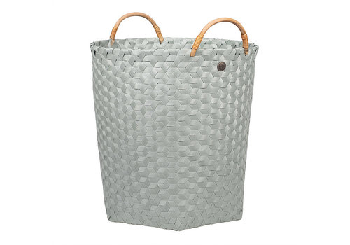 Handed By Handed By Dimensional Round Basket Eucalyptus L with Rattan Handles