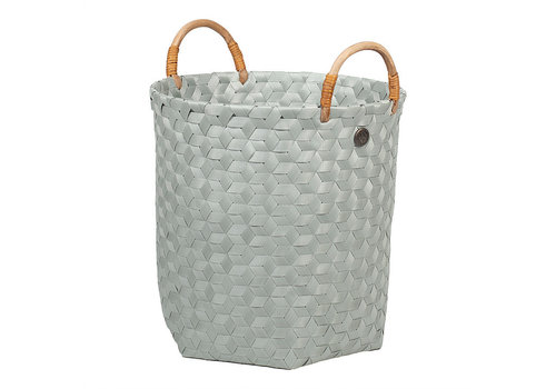 Handed By Handed By Dimensional Round Basket Eucalyptus M with Rattan Handles