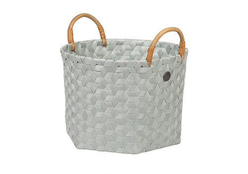 Handed By Handed By Dimensional Round Basket Eucalyptus S with Rattan Handles