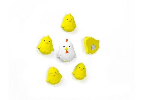Trendform Trendform Set of 6 Chicken Magnets