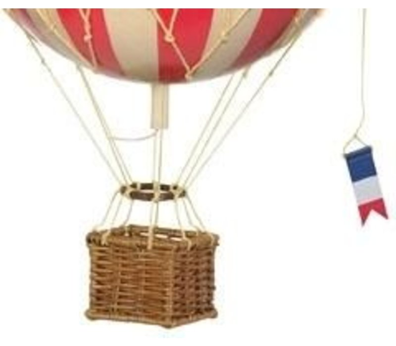 Authentic Models Hot Air Balloon True Red 18 cm