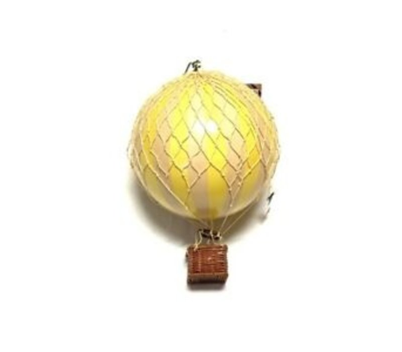Authentic Models Hot air Balloon True Yellow 18 cm