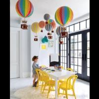 Authentic Models Hot air Balloon Pastel Rainbow 18 cm