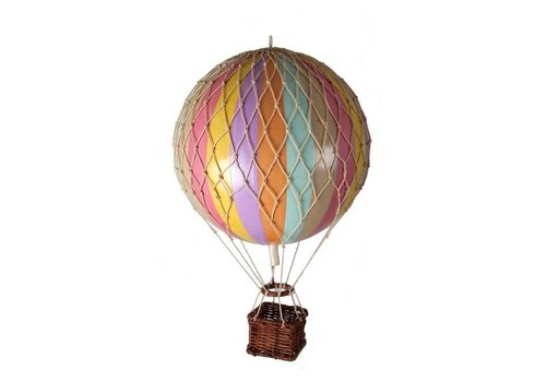 Authentic Models Authentic Models Hot air Balloon Pastel Rainbow 18 cm