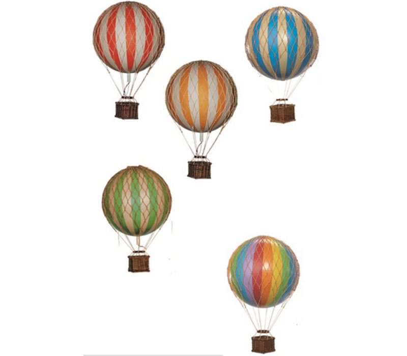 Authentic Models Hot air Balloon Blue 18 cm