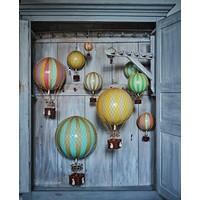 Authentic Models Hot air Balloon  Rainbow 18 cm