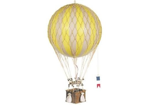Authentic Models Authentic Models Hot air Balloon  Royal Aero  Pastel True Yellow 32 cm